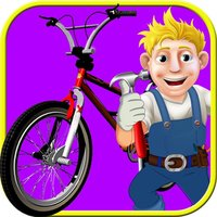 Crazy Cylce Wash and Repair Salon Kids Games