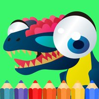 T Rex Dinosaur Coloring Book for kids free