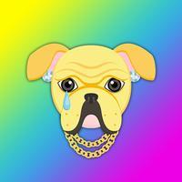 Yellow Gold Hip Hop Bulldog