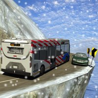 winter Snow hill Bus Driving simulator