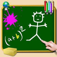 Blackboard for iPhone and iPod - write, draw and take notes - colored chalk - wallpaper green, white, black or photo
