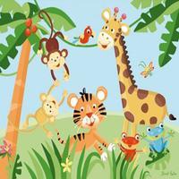 Crazy Fruit Animals - Fruits color games