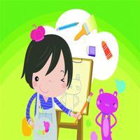 点点创意画图-开启我的绘画世界,儿童画画启蒙软件
