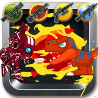 Red Rangers Robot VS Dinosaurs Fight Free Game