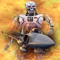 FighterJet Armored Robot Attack - 3D typhon aircraft carrier modern krypto war