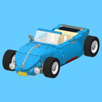 VW Beetle Hot Rod for LEGO 10252 Set