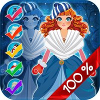 My Pretty Little Snow Princess Copy & Draw Game - Virtual World of Royal Beauty BFF Dress Up Club Edition - Free App