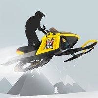 Snowmobile mountain trails hardcore racing