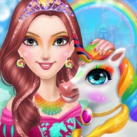 Rainbow Unicorn Princess