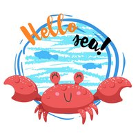 Crab Stickers Pack