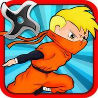 Brave Kid Ninja vs Clumsy Zombie Samurai Run: Temple Defense Free