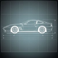 Blueprint Cars 3D