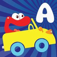 Alphabet car game for kids,for Toddler,Preschooles