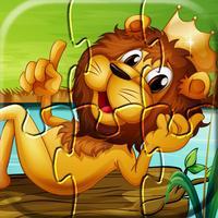 Wild animals kids puzzle games