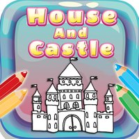 House And Castle Coloring Book : Free for Kids And Toddlers!