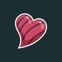 Abstract Heart Stickers for iMessage