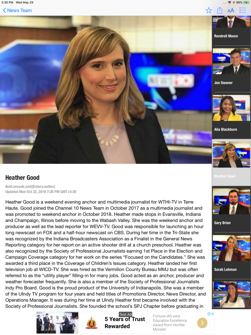 WTHI News 10 App for iPhone - Free Download WTHI News 10 for