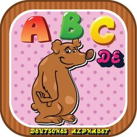 ABC Animals German Alphabets Flashcards: Vocabulary Learning Free For Kids!