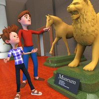Happy Family Museum Fun Visit