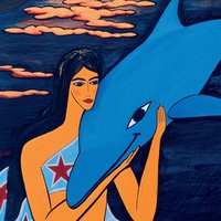 Little Mermaid And Her Dolphin