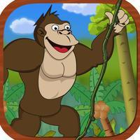 Gorilla King Jungle Swing Free - Fun Physics Game