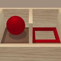 Roll the ball. Labyrinth box