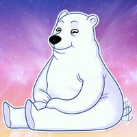 Iced White Bear Stickers