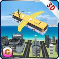 Flying School Bus Simulator - Extreme Stunt Bus Airplane Flight Pilot