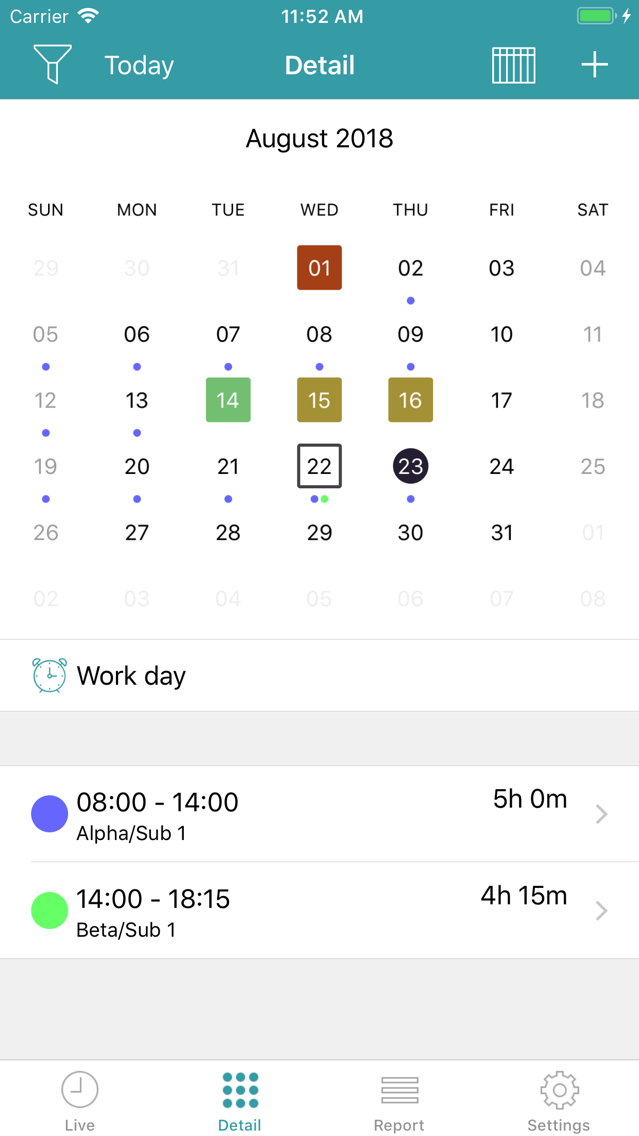 aXTimes Pro - time tracking App for iPhone - Free Download