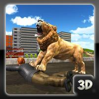 Wild Lion City Attack 3D- Big Cat Hunt