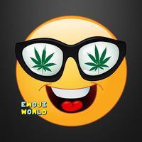 Weed Emoji - Stoned High Emoji