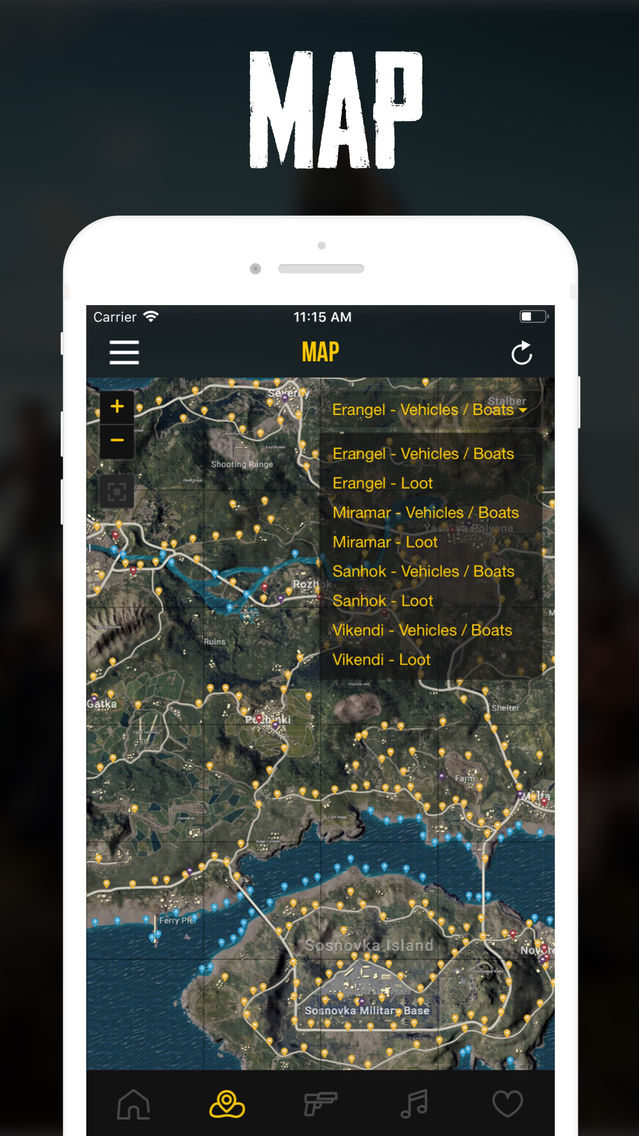 Map, Stickers & Stats for PUBG App for iPhone - Free