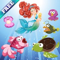 Mermaids and Fishes for Toddlers and Kids : discover the ocean ! FREE app