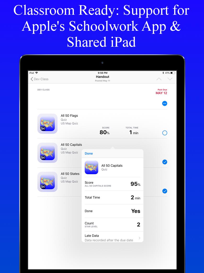 United States Map Quiz Edu Ed. App for iPhone - Free ...
