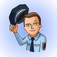 Police Adventures Stickers