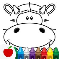 Coloring Book for Kids: Animal Square Heads