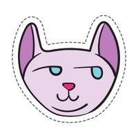 Suspicious Cute Cats Stickers
