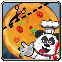 Cut the Pizza : Rope slice pizza recipes for Panda