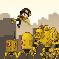 Kill The Dummy Boss Robots 3 (a jump shooter game)