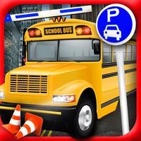 High School Bus Parking Test 3D Simulator Edition