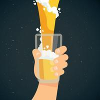 Happy Beer Glass