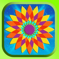 Flower Mandala Therapy Coloring Book Drawing Pages