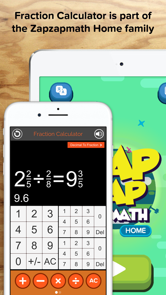 Fraction Calculator + Decimals App for iPhone - Free Download