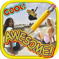 Write text and draw on photos.