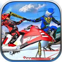 SnowMobile Illegal Bike Racing