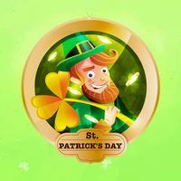 Saint Patrick Wishes Stickers