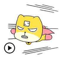 Animated Hero Dog Sticker