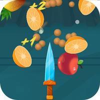 Fruit splashing-flying knife