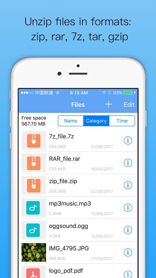Unzip - zip file opener App for iPhone - Free Download Unzip