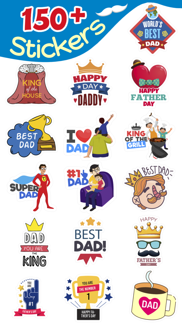 Father's Day Stickers ⋆ App for iPhone - Free Download